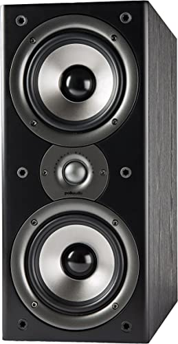 Polk Audio Monitor 40 Series II Bookshelf Speaker Black, Pair – Big Sound, High Performance Perfect for Small or Medium Size Rooms