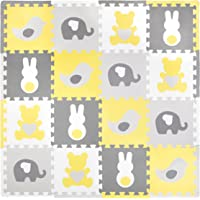 Tadpoles Playmat Set, Teddy & Friends, Yellow/Grey