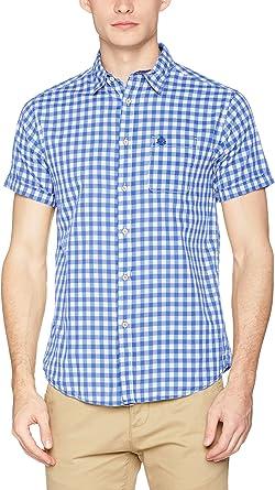 Springfield Camisa Hombre Azul M: Amazon.es: Ropa y accesorios