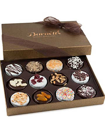 Barnett's Chocolate Cookies Gift Basket, Gourmet Christmas Holiday Corporate Food Gifts in Elegant Box,