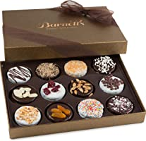 Barnett's Chocolate Cookies Gift Basket, Gourmet Christmas Holiday Corporate Food Gifts in Elegant Box, Thanksgiving,...