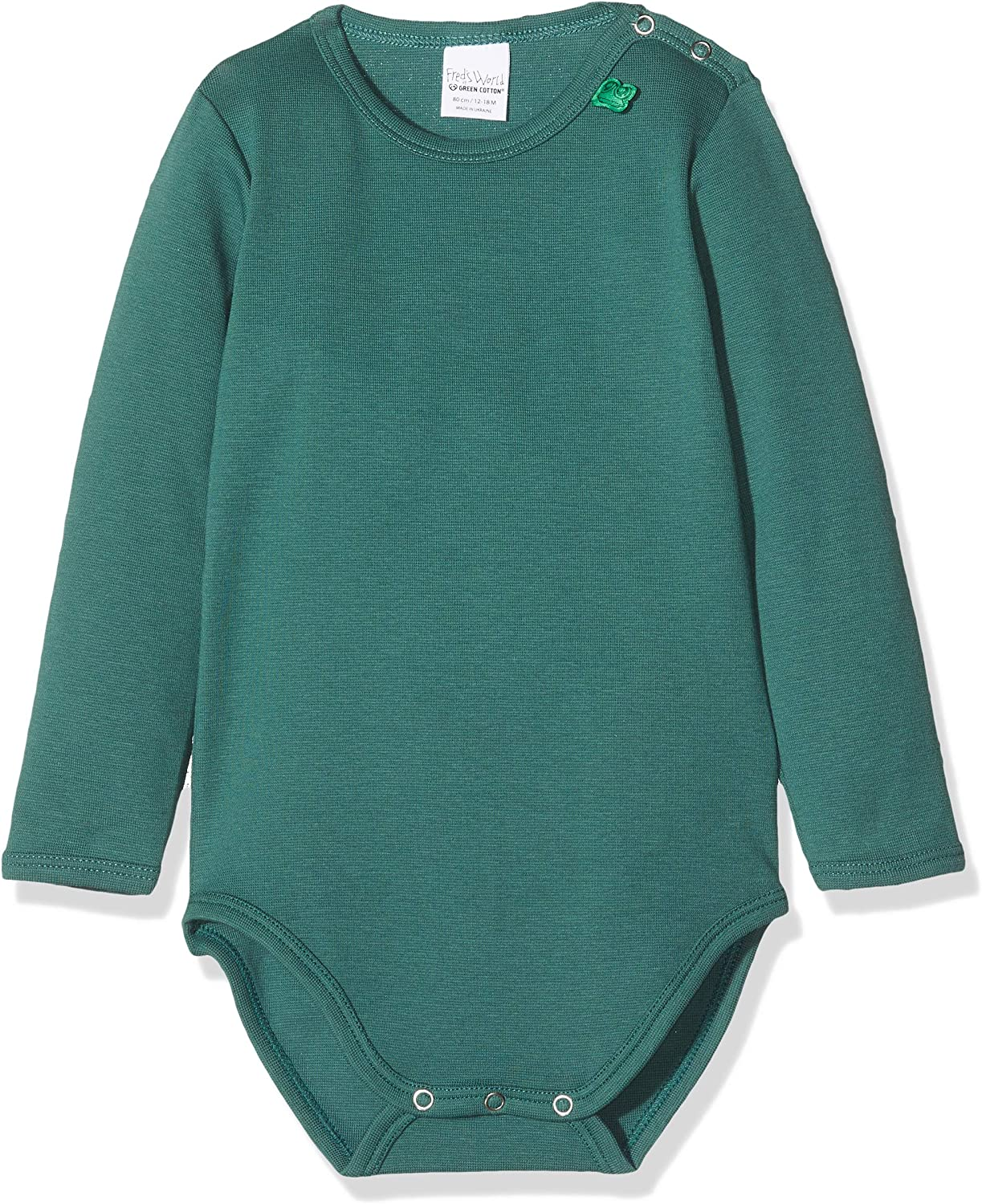 Fred's World by Green Cotton Star Solid Body Camiseta para Bebés