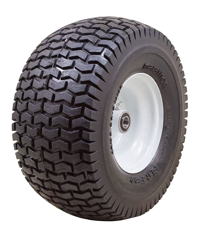 "Marathon 13x6.50-6"" Flat Free Tire on Wheel, 3"" Hub, 3/4"" Bearings"