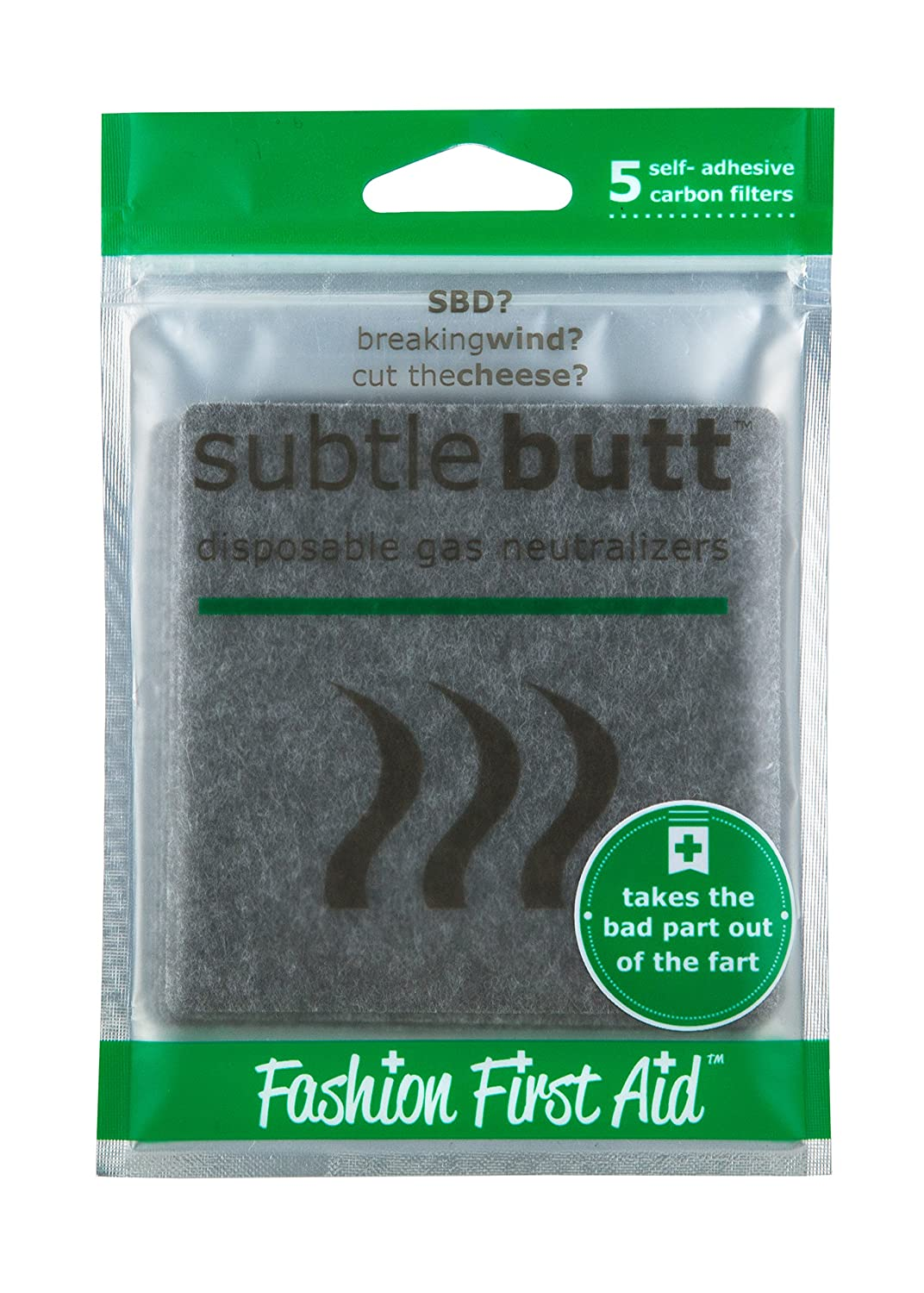 Amazon.com: Subtle Butt: disposable gas neutralizers (5 saving graces):  Health & Personal Care