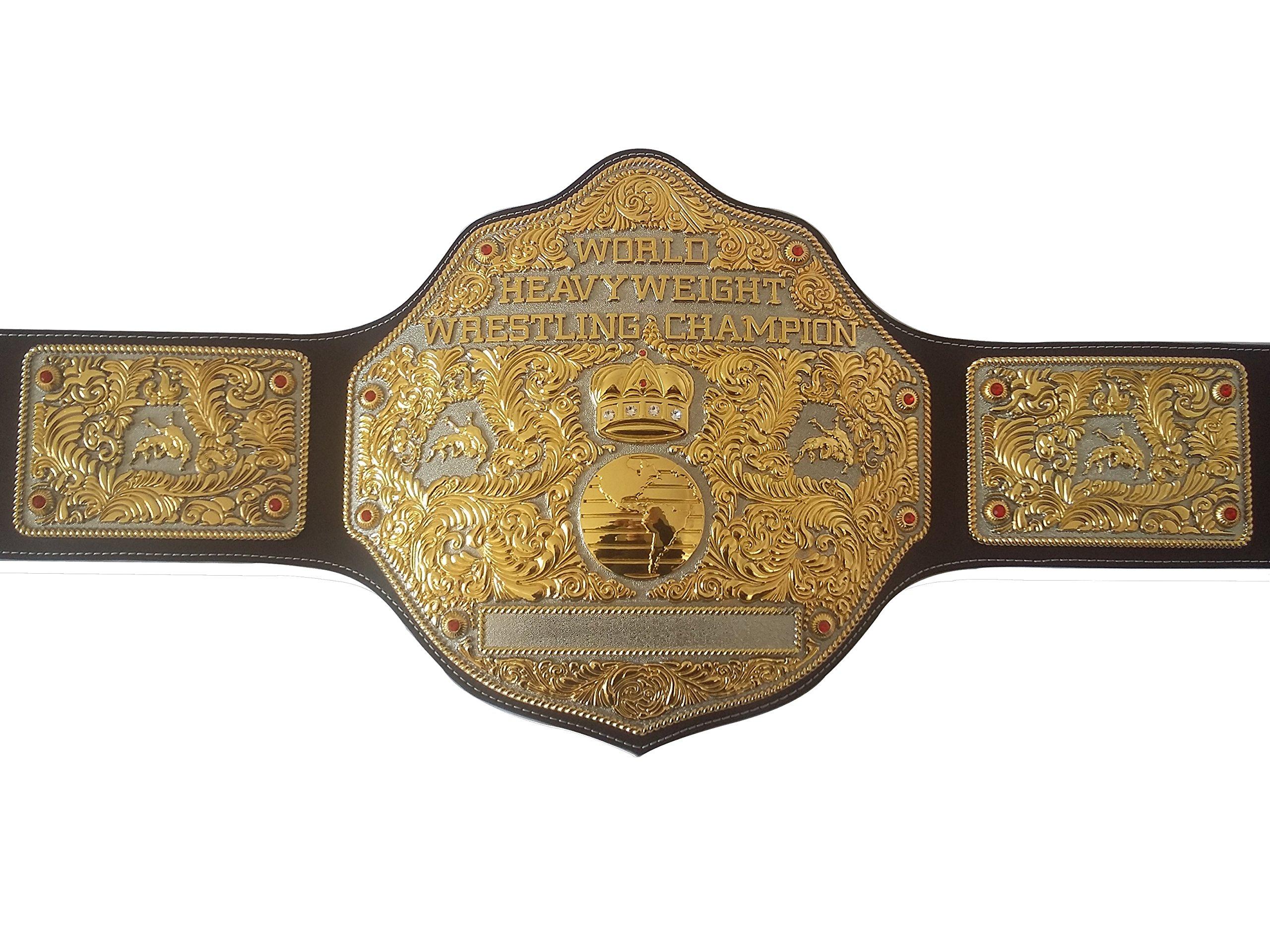 Fandu Belts Adult Nickel Gold Big Gold Championship Belt Title 8mm Thick by Fandu Belts