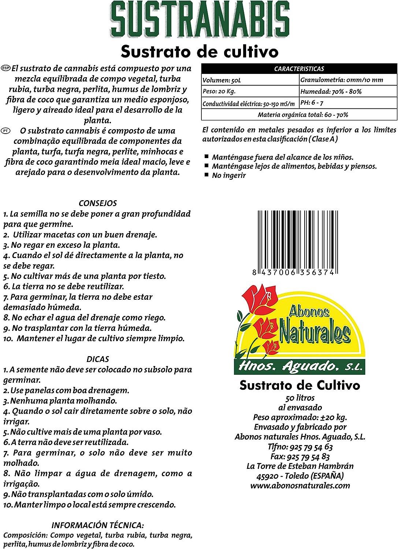 ABONOS NATURALES HNOS. AGUADO S.L. SUSTRANABIS 50L: Amazon.es: Jardín
