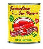 Carmelina 'e San Marzano Italian Peeled Tomatoes in Puree , 28-Ounce Cans (Pack of 12)