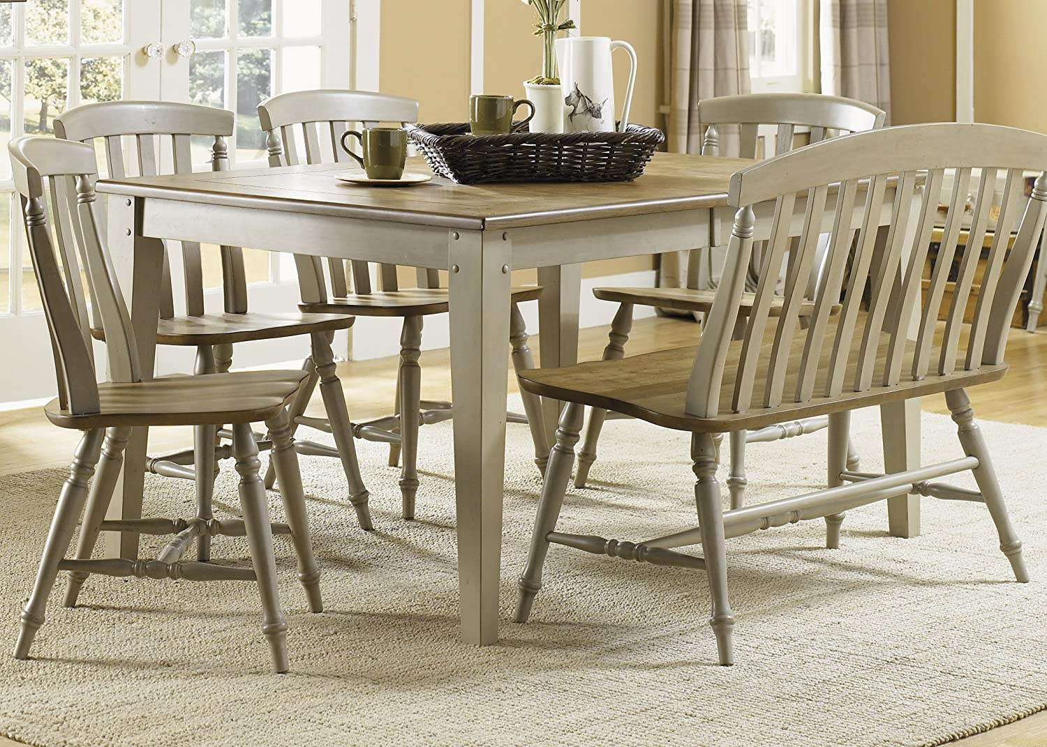 Amazon.com - Liberty Furniture 541-T4074 Al Fresco Dining Rectangular Leg Table 40  x 74  x 30  Driftwood and Taupe - Tables & Amazon.com - Liberty Furniture 541-T4074 Al Fresco Dining ...
