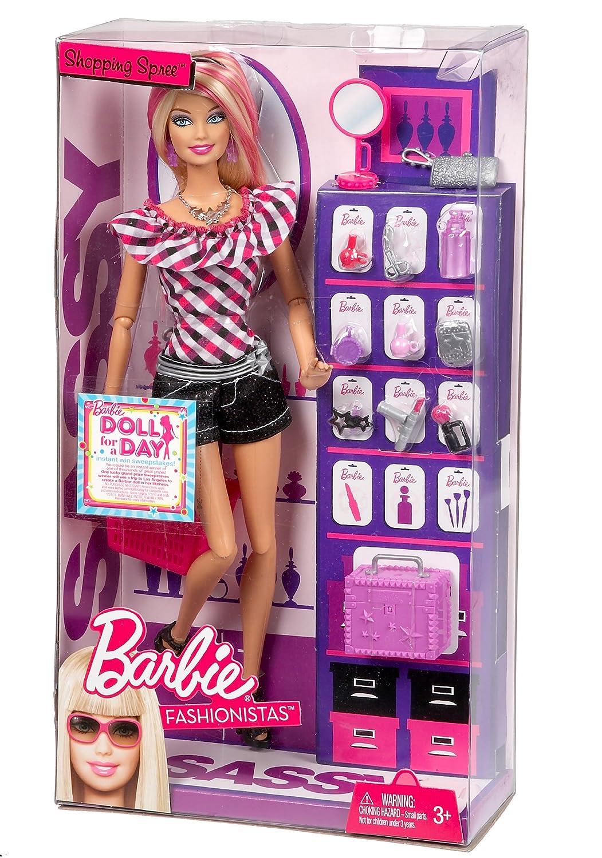 Barbie fashionistas sassy shops for makeup doll 17