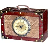Amazon vintiquewisetm old world map suitcase clock small vintiquewisetm antique style suitcase with clock gumiabroncs Gallery