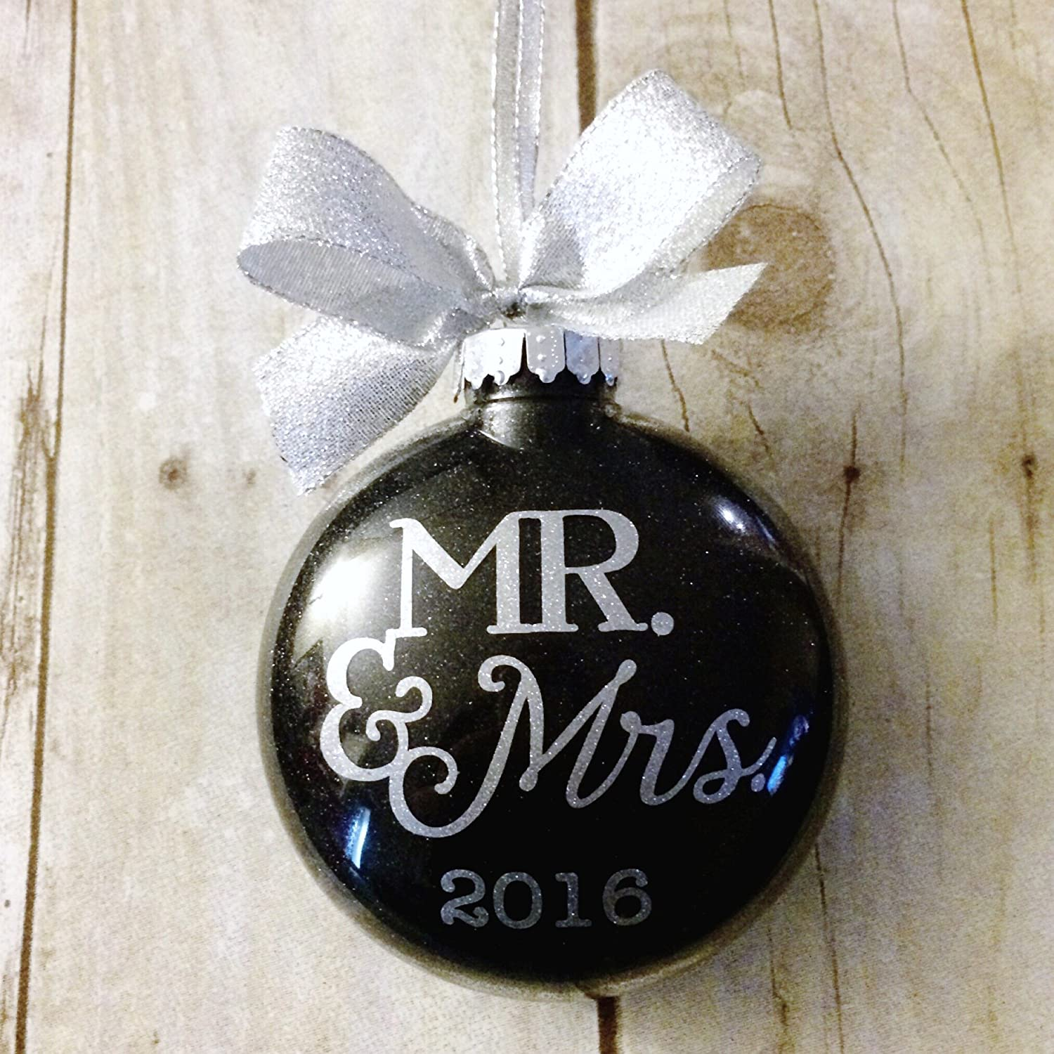 Amazon.com: Our First Christmas As Mr And Mrs Ornament, Newlywed ...