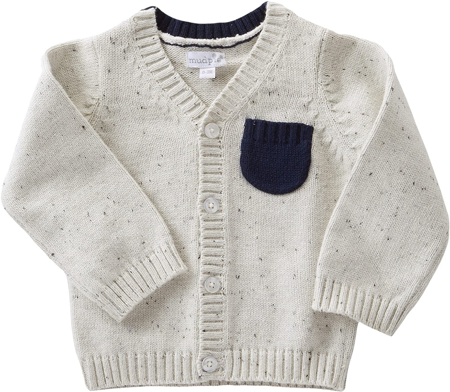 c4ac2012a Amazon.com  Mud Pie Baby Boy s Speckled Button Up Sweater (Infant ...