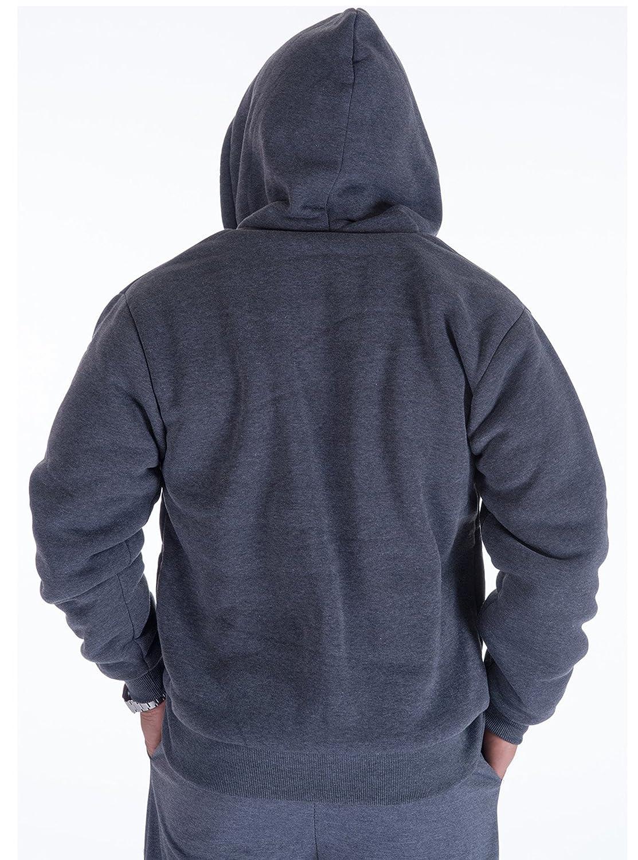 Amazon.com: ZITY Men's Heavyweight Hooded Sweatshirt Front-Zip Fleece  Hoodie with Split Kangaroo Pocket: Clothing