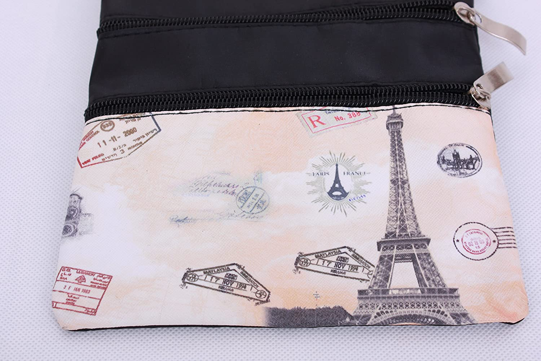 Paris Souvenir Messenger Cross Body Shoulder Passport Travel Bag Paris Eiffel Tower