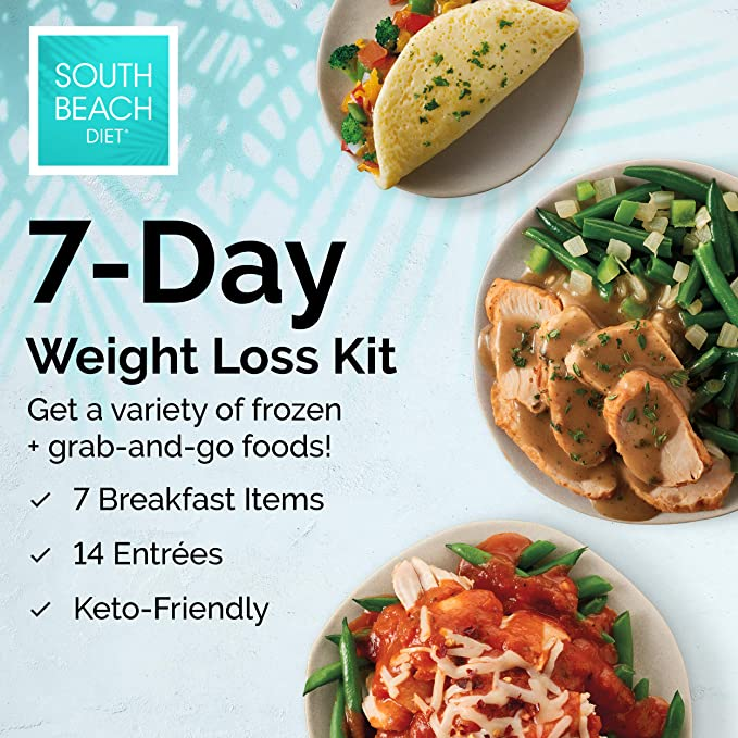 Amazon Com South Beach Diet Phase 1 Frozen Ready To Go 7 Day Weight Loss Kit Keto Friendly Health Personal Care
