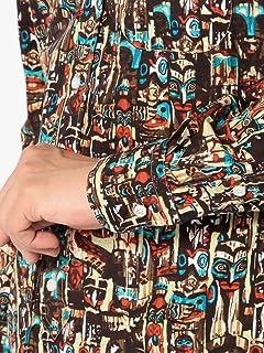 Totem Print Buttondown Shirt 111-14-0274: Brown