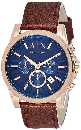 8b496cfaa3ee Armani Exchange AX2508 - Reloj de cuero color marrón