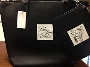 Signature Saks large Saffiano Faux-Leather Tote