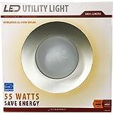 StonePoint LED Lighting Utility Light GGL-50 Energy Efficient Bright Daylight Bulb with Shroud Fits Standard Edison Base 4000K and 4400 Lumens - for Shop Light, Garage Light, Workshop