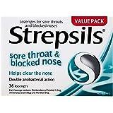 Strepsils Sore Throat & Blocked Nose Lozenges Antibacterial (Count of 36)