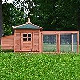 Zooprimus Hühnerstall 39 Geflügelhaus - Oreo - Stall für Außenbereich (für Kleintiere: Hühner, Geflügel, Vögel, Enten usw.)