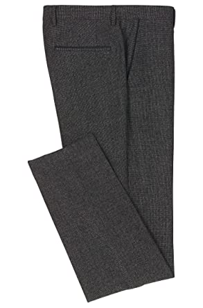 8d2ff3a631ef Image Unavailable. Image not available for. Color  Hugo Boss Men s Gray   Giro  Slim Fit Virgin Wool Nailhead Dress Pants 40R