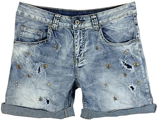 Vêtements Avec 5 En Femme Jean Pocket Et Strass Short g4S7qw