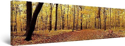 Startonight Canvas Wall Art Yellow Autumn Panorama