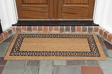 Incroyable DeCoir 24u0026quot; X 48u0026quot; U0027Charleston Borderu0027 Coir Double Door Mat ...