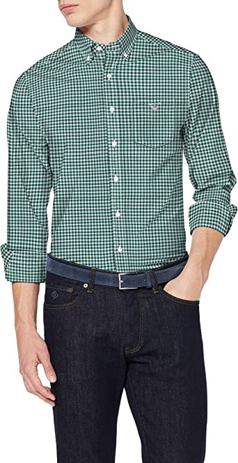 GANT The Broadcloth Gingham Reg BD Camisa para Hombre: Amazon.es: Ropa y accesorios