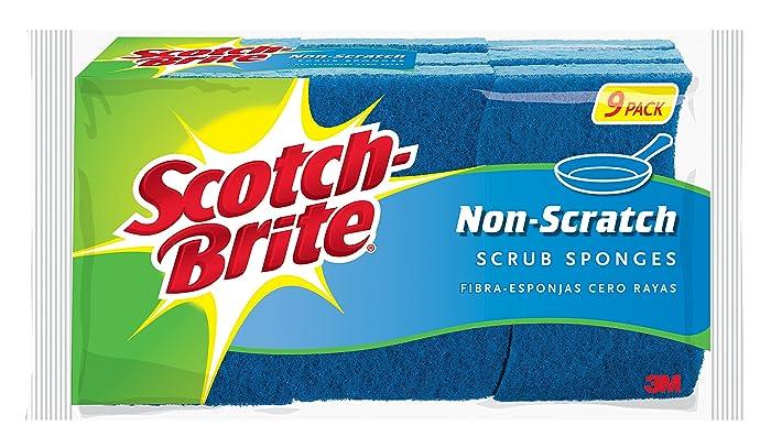 Scotch-Brite Non-Scratch Scrub Sponge, 9 Sponges, Clean Tough Messes Without Scratching