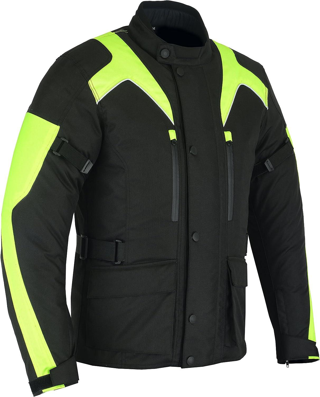 in tessuto ad alta visibilit/à con marchio CE Sterling Sports/® abbigliamento protettivo Giacca da motociclista da uomo impermeabile