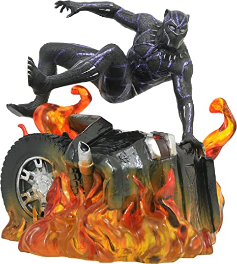 DIAMOND SELECT TOYS Marvel Gallery: Black Panther (Version 2) PVC Diorama Figure, Model:MAY182305