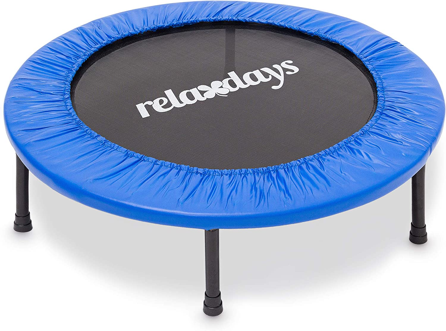 Blue Endurance Training and Fitness Relaxdays Fitness Trampoline Holds up to 100 kg 91 or 96 cm Diameter Aerobic Indoor Trampoline