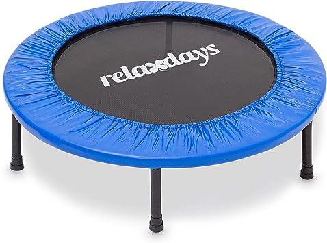 Relaxdays, 96 cm de diámetro, Azul Cama elástica trampolín de ...