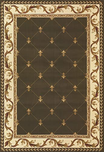 KAS Oriental Rugs Corinthian Collection Fleur-De-Lis Area Rug, 2 3 x 3 3 , Green