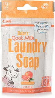 product image for B&N All Natural Daisy's Goat Milk Powdered Soap Laundry Detergent, Scent, 3 Load Trial Size Citrus Sunrise Citrus Sunrise 2 Ounce Fresh