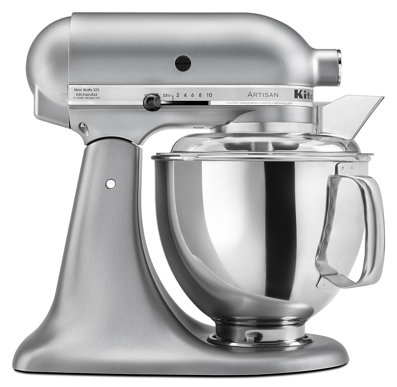 Ki Ki Kitchenaid Mixer Colors - Amazon com kitchenaid ksm150pssm artisan series 5 quart stand mixer silver metallic discontinued electric stand mixers kitchen dining