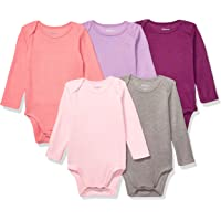 Hanes Ultimate Baby Baby-Girls BF2BS5 Flexy 5 Pack Long Sleeve Bodysuits Bodystocking - Multi
