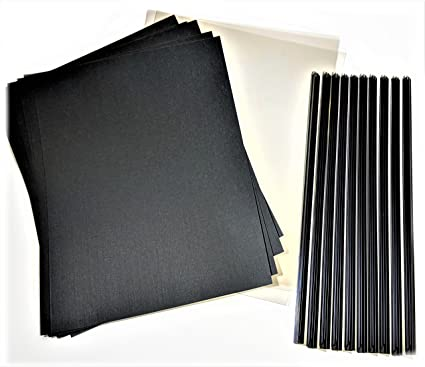 Newly Patented Premium SlideBInder tm Binder Bars w CLEAR FRONT and BLACK  LINEN cardstock covers 8fbf00bda44c6