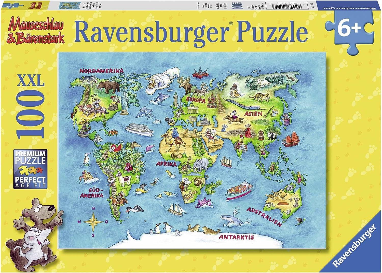 ab 6 Jahren Länder Puzzle Deutschland Lernpuzzle Bastelset Karton Kinder