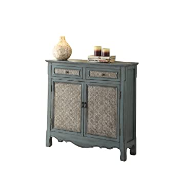 ACME Furniture Acme 97245 Winchell Console Table, Antique Blue, One Size