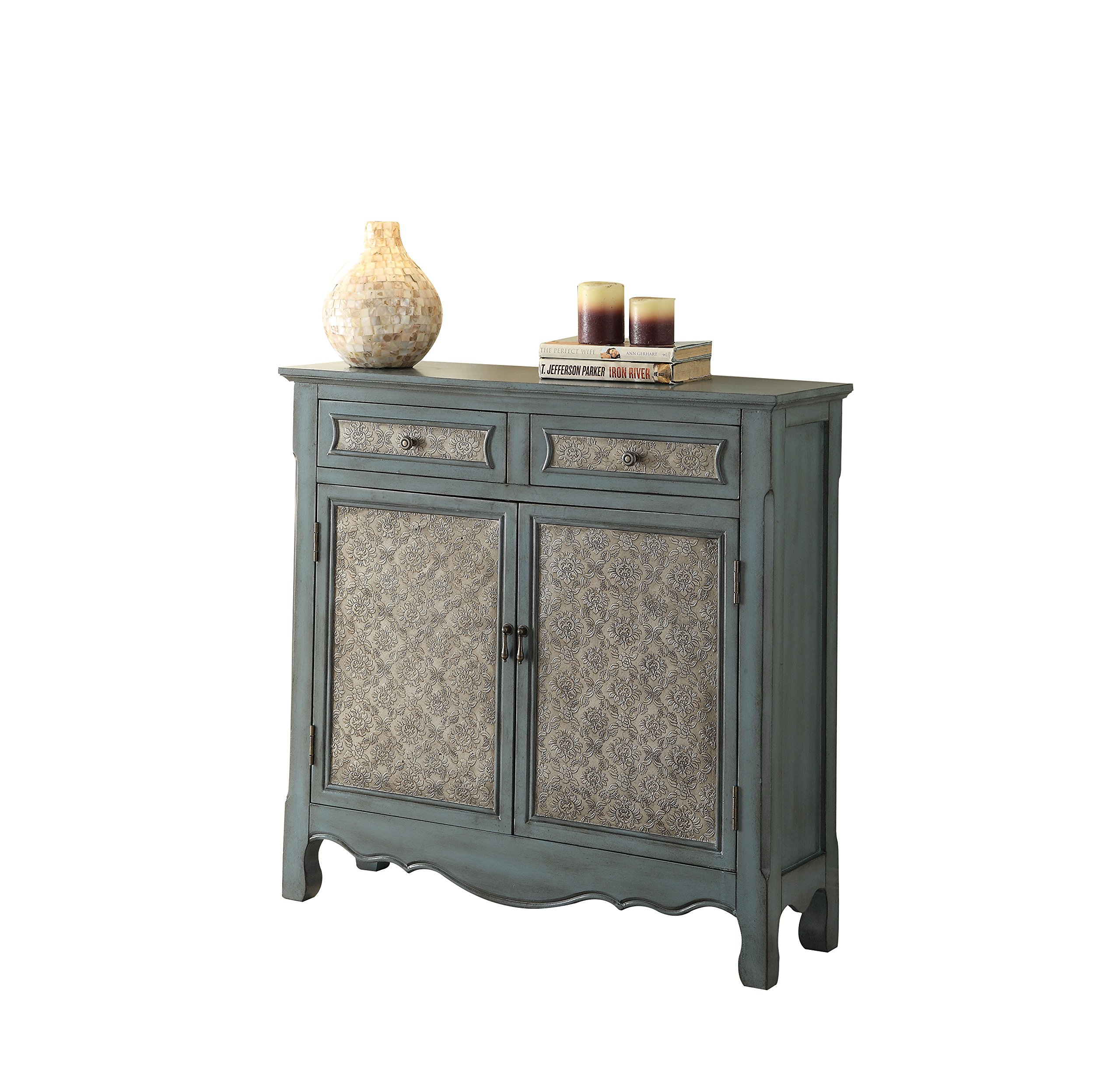 ACME Winchell Antique Blue Console Table