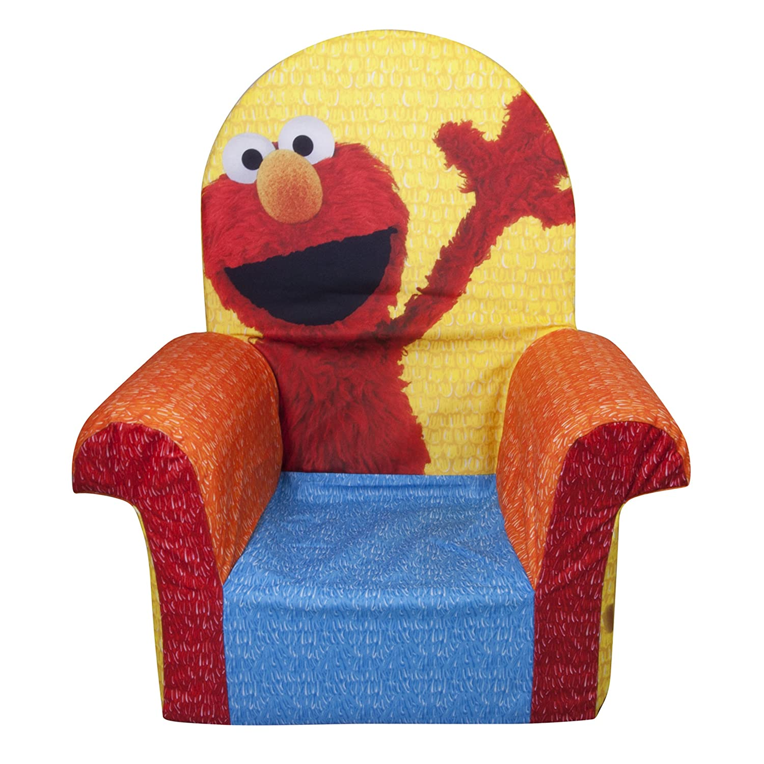 Elmo folding chair - Amazon Com Marshmallow Furniture Children S Foam High Back Chair Sesame Street S Elmo By Spin Master Toys Games