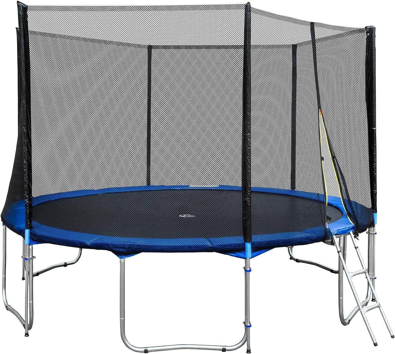 TecTake Cama elástica trampolín para Jardin con Red de Seguridad Escalera - Varias tamaños - (Ø 457cm | No. 401901): Amazon.es: Deportes y aire libre