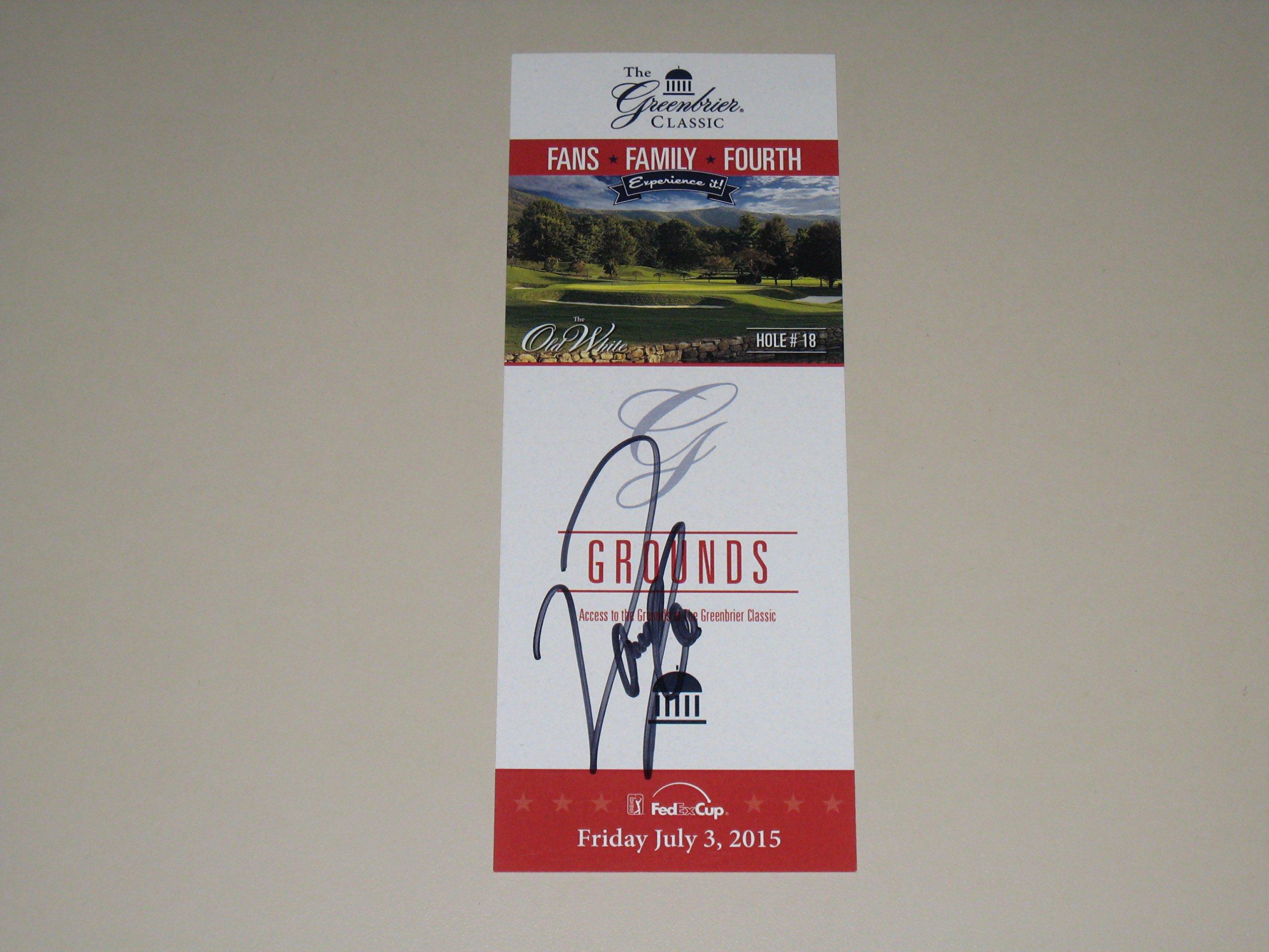 Danny Lee signed 2015 Greenbrier Classic Winner Golf Ticket PGA COA