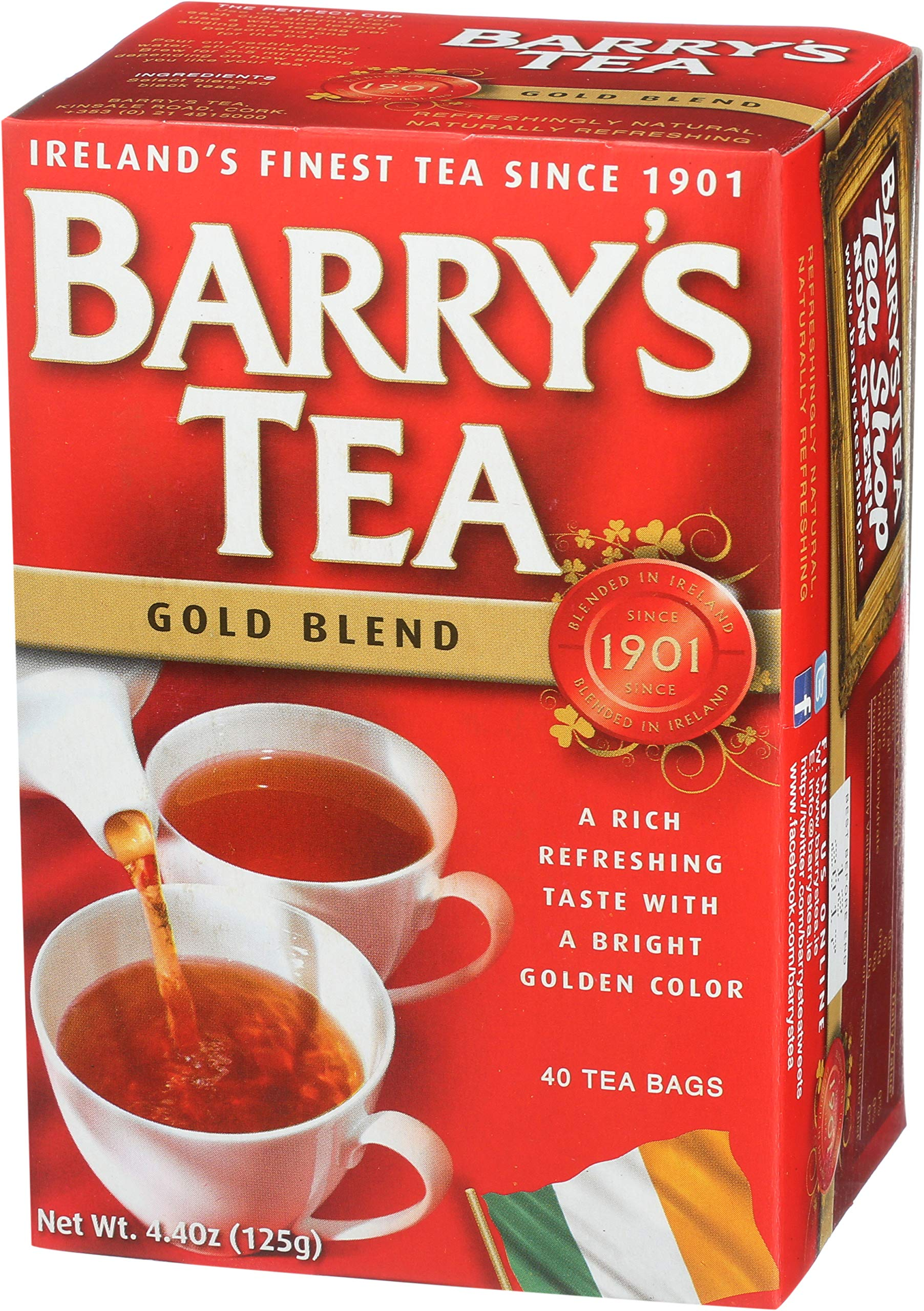 Barrys Gold Blend Tea Bags, 80 Count, 8.8 Ounce (Pack of 6) by Barry's Tea
