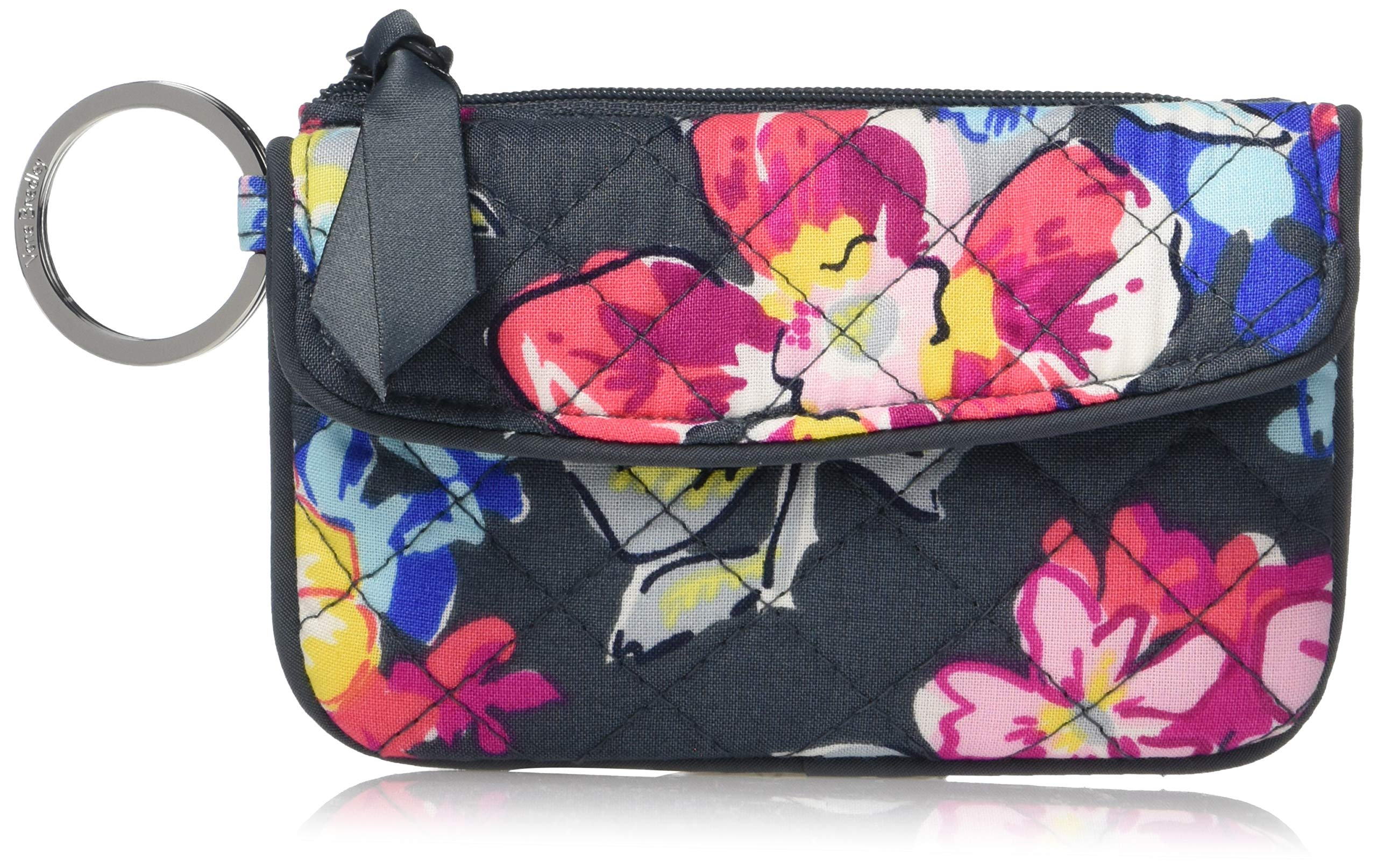 Vera Bradley Iconic Jen Zip ID, Signature Cotton, Pretty Posies