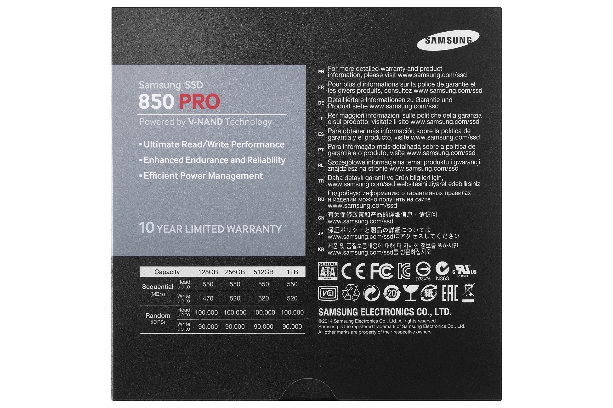 Samsung 850 PRO - 512GB - 2.5-Inch SATA III Internal SSD (MZ-7KE512BW) by Samsung