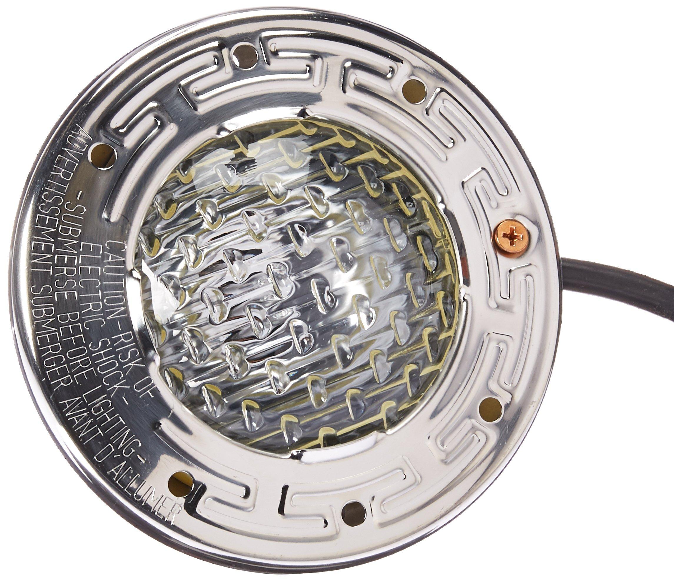 Pentair 77168100 Stainless Steel AquaLight Halogen Quartz Light 120-Volt 250-Watt, 50-Feet Cord by Pentair